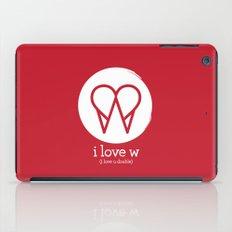 I Love W iPad Case