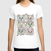 Kittens Womens Fitted Tee White SMALL