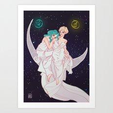 Sailor Neptune & Sailor Uranus Art Print