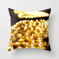 Prayer Candles In Church… Throw Pillow