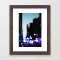 Big lights will inspire you Framed Art Print