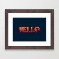 HELL-O Framed Art Print