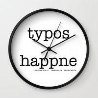 Typos Happne Wall Clock
