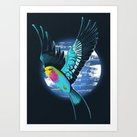 Lilac-Breasted Roller Art Print