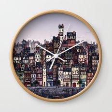 Fishing Village Wall Clock