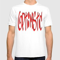 Opti:mistic Mens Fitted Tee White SMALL
