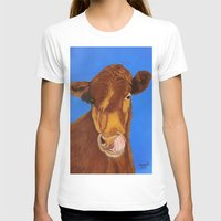 cow T-shirts featuring Cow by maggs326