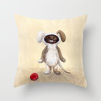 I'm A Dog! Woof! Throw Pillow