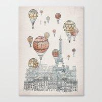Voyages Over Paris Canvas Print