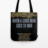 Demons Run When A Good Man Tote Bag