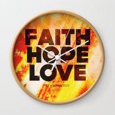 Faith,Hope,Love Wall Clock