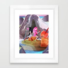 P-Bubbs and Marcy Framed Art Print