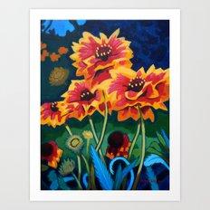 Gaillardia Flowers Art Print