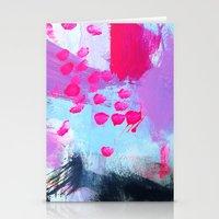 Water Sprinkle: Deep Ana… Stationery Cards