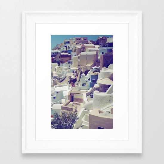 Oia, Santorini, Greece Framed Art Print