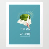 Melon of Troy Art Print
