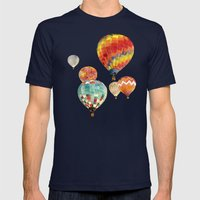 Balloons Mens Fitted Tee Navy SMALL