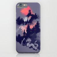sunset iPhone & iPod Cases featuring Samurai's life by Picomodi
