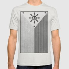 Happy Independence Day Mens Fitted Tee Silver SMALL