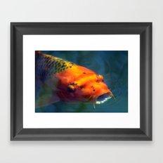 Red Koi 085 Framed Art Print