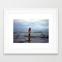 A boy and The Sea 2 Framed Art Print