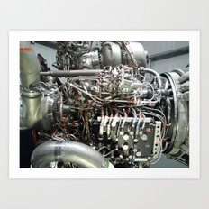 SPACE SHUTTLE ENGINE Art Print