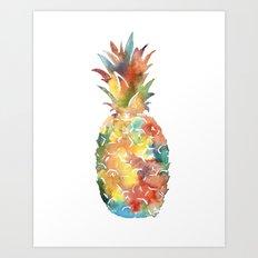 Colorful Pineapple Art Print