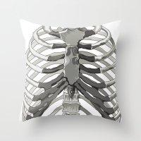 Vector Ribcage Throw Pillow