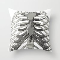Vector Ribcage Throw Pillow