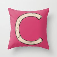 Alphabet #3 Throw Pillow