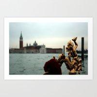 Gondola At Sea Art Print