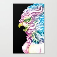Canvas Print featuring Masked by HanYong