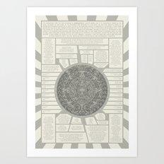 Aztec Calendar Stone Art Print