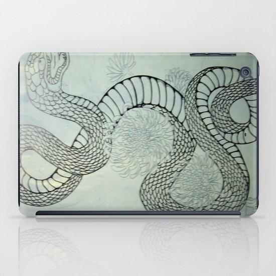 snake in the garden iPad Case