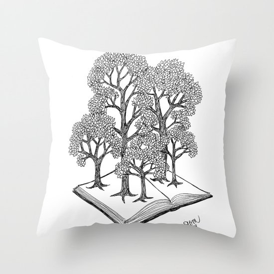 Book Forest | Bookish Throw Pillows