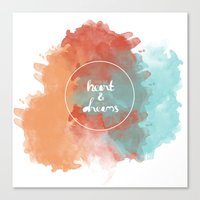 Follow Your Heart & Chas… Canvas Print