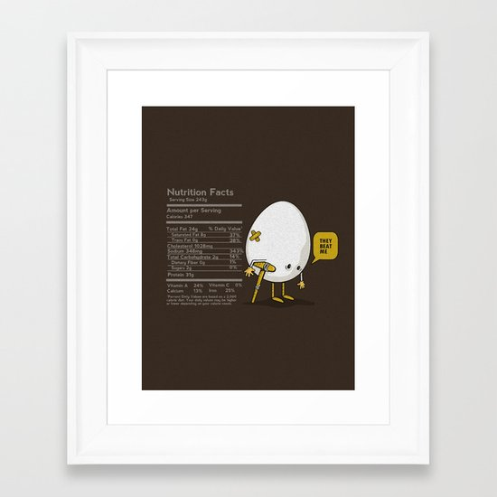 They Beat Me Framed Art Print