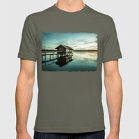The house at the lake Mens Fitted Tee Lieutenant SMALL
