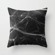 Absolute Black Marble Ed… Throw Pillow