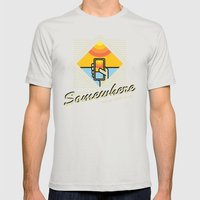 WARM WITH WI-FI Mens Fitted Tee Silver SMALL