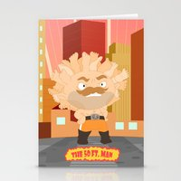 The powerful 50ft. man Stationery Cards