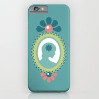 iPhone & iPod Case featuring That Pretty Lady [Turquoise] by Veronica Galbraith