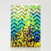 color Spatter set 3 Stationery Cards