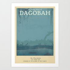 Retro Travel Poster Series - Star Wars - Dagobah Art Print