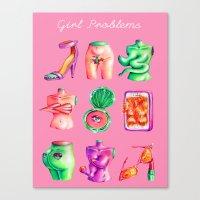 Girl Problems Canvas Print