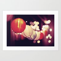 Christmas lights 2 Art Print