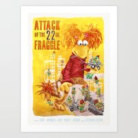 Attack of the 22 Inch Fraggle Art Print
