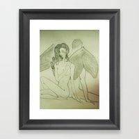 Love`s Angel Wings Framed Art Print