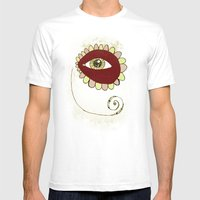 See No Evil - Pink Mens Fitted Tee White SMALL
