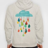 cloudy with a chance of rainbow Hoody
